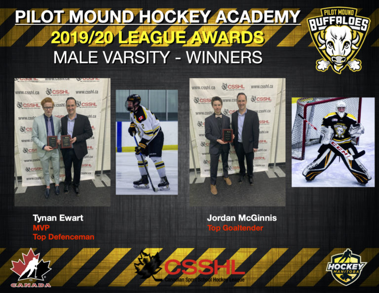 PMHA 2020 CSSHL League Awards