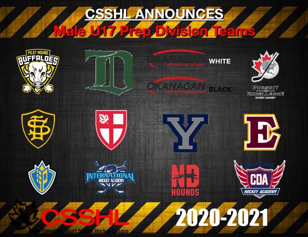 CSSHL Announces Male U17 Prep Division Teams