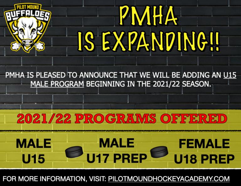 PMHA Expands with Male U15 Program