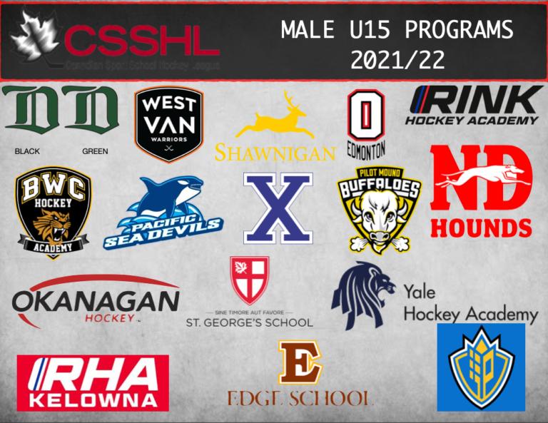 Read more about the article CSSHL Announces 2021/22  U15 Male Prep Programs