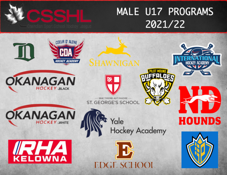 CSSHL Announces 2021/22 U17 Male Prep Programs