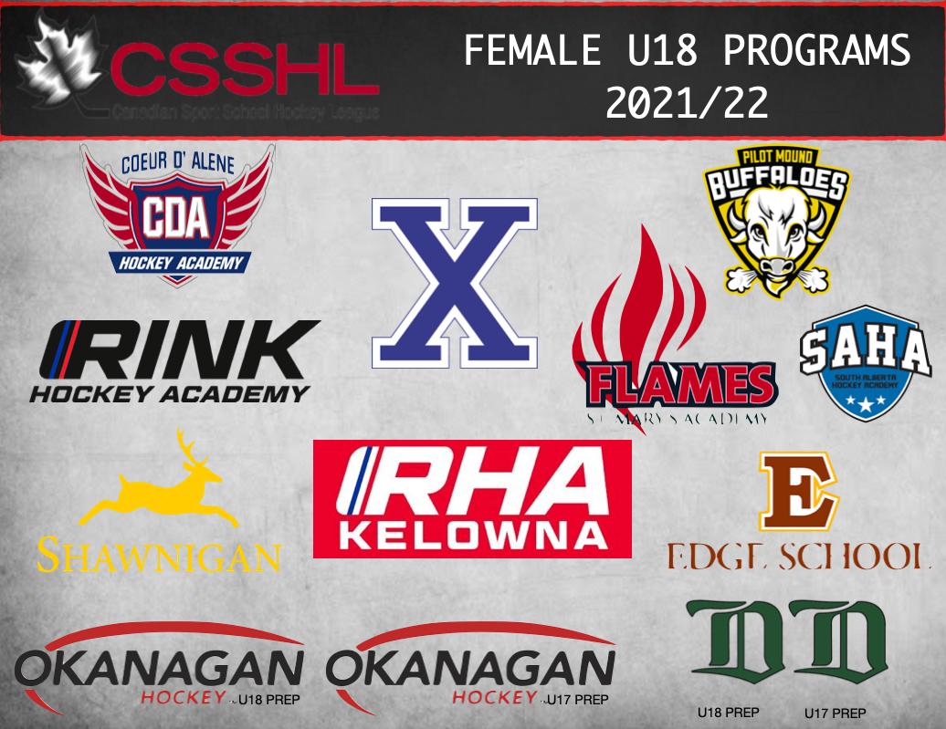 Read more about the article CSSHL Announces 2021/22 U18 Female Prep Programs
