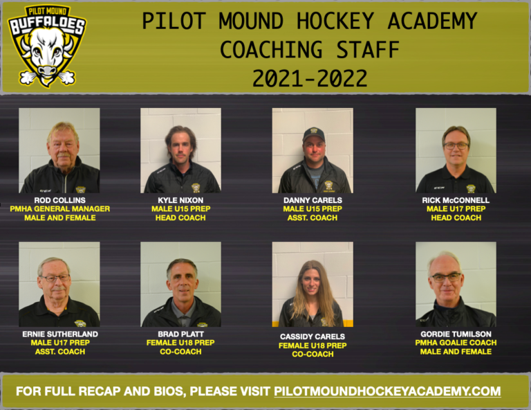 Read more about the article PMHA ANNOUNCES 2021/22 COACHING STAFF